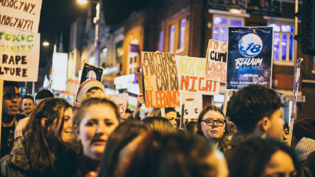 Photo of a Reclaim the Night march