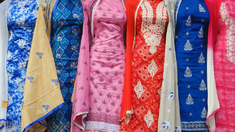 Photograph of asian dresses