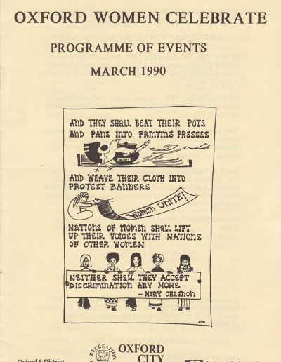 Cover for the OIWF festival programme 1990