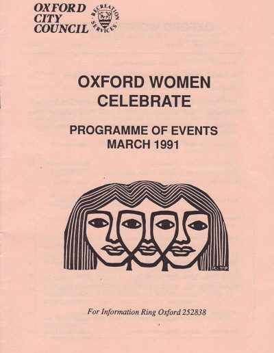 Cover for the OIWF festival programme 1991