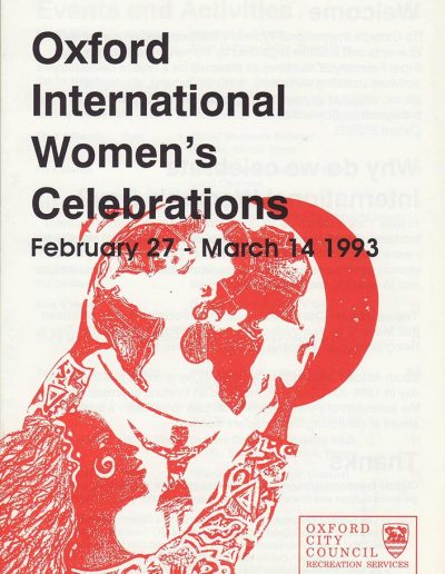 Cover for the OIWF festival programme 1993