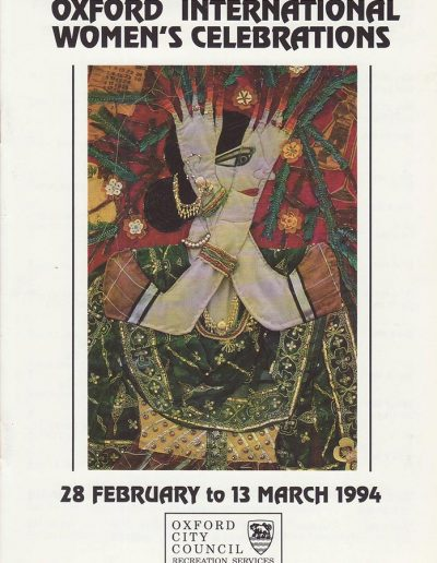 Cover for the OIWF festival programme 1994