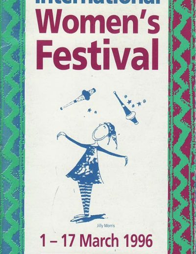 Cover for the OIWF festival programme 1996