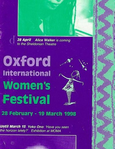 Cover for the OIWF festival programme 1998