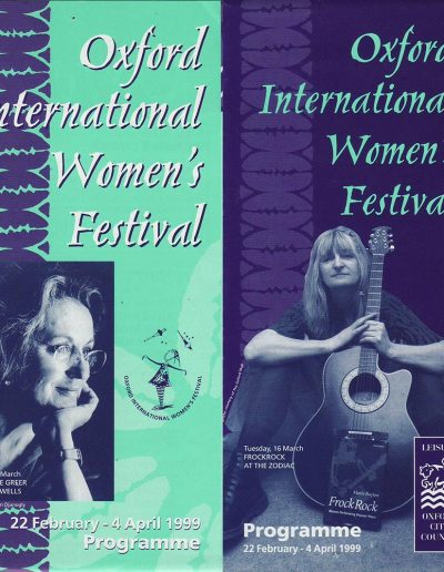 Cover for the OIWF festival programme 1999