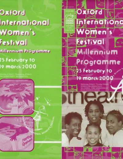 Cover for the OIWF festival programme 2000