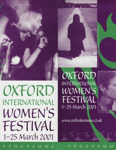 Cover for the OIWF festival programme 2001