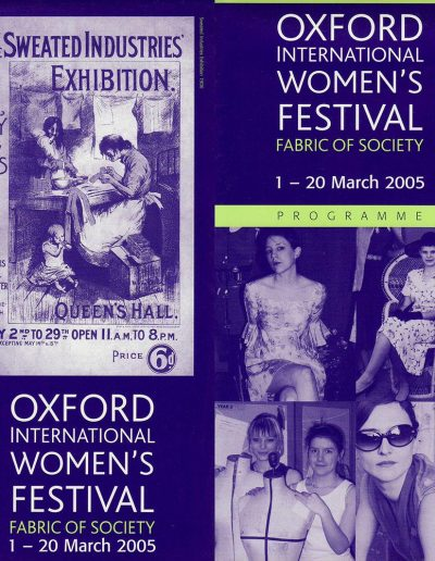 Cover for the OIWF festival programme 2005