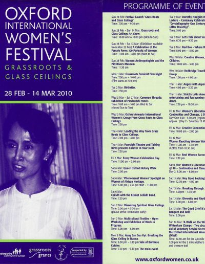 Cover for the OIWF festival programme 2010