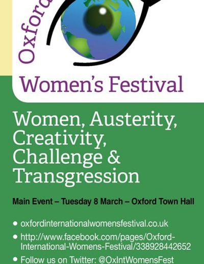 Cover for the OIWF festival programme 2016