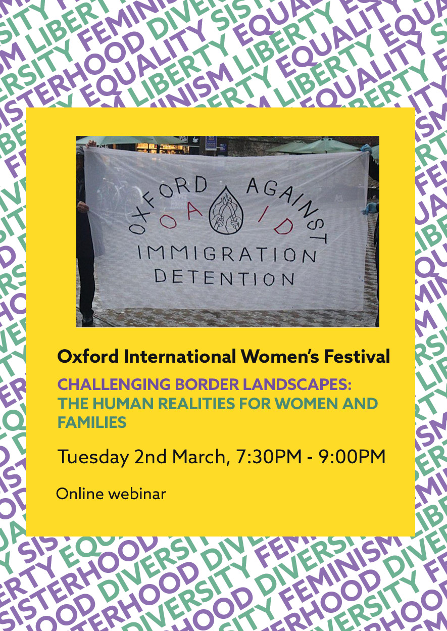 Challenging border landscapes: The human realities for women and families flyer