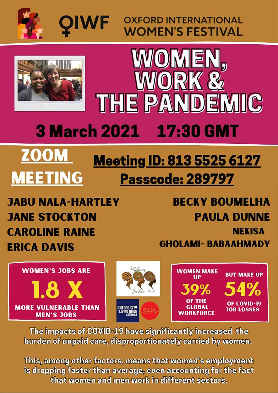 Women Work and the Pandemic Flyer
