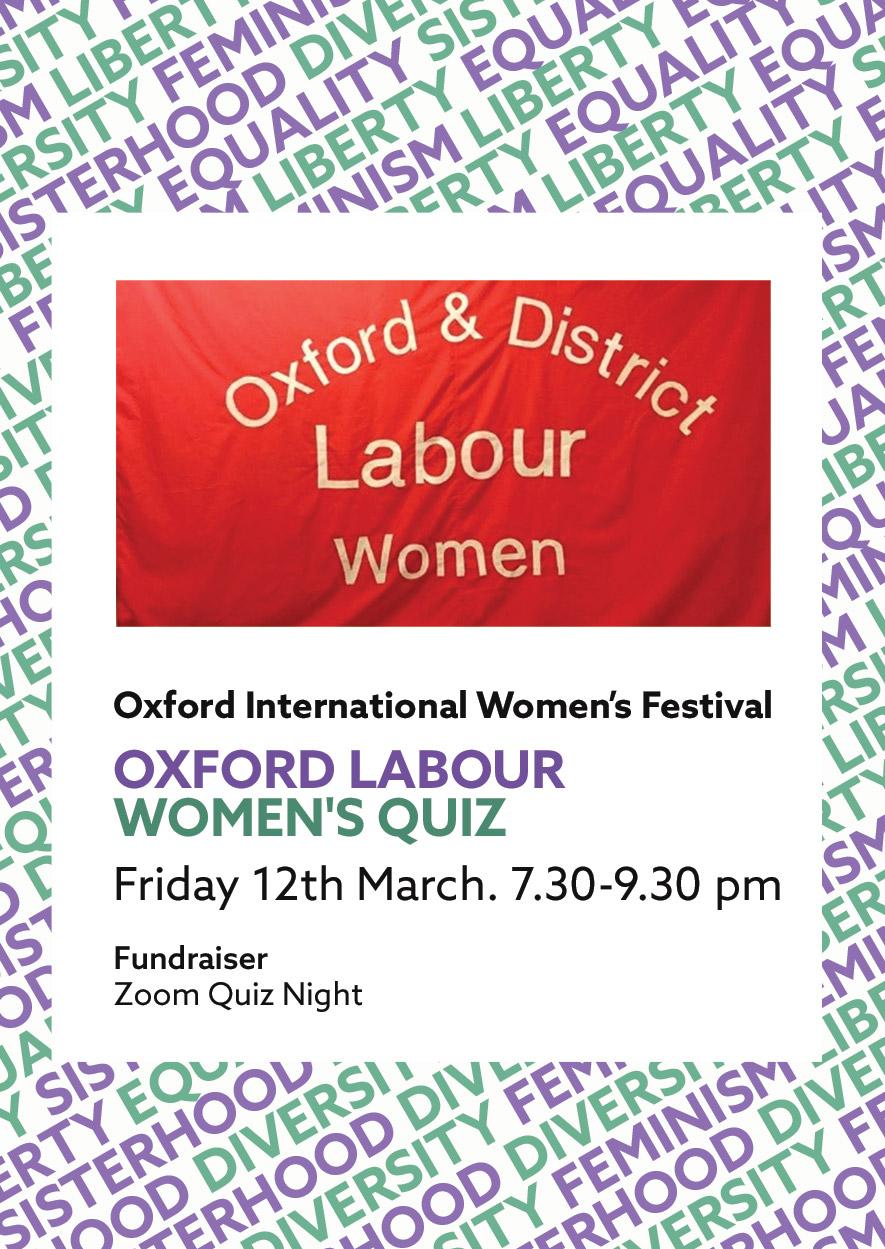 Oxford Labor Women's Quiz Flyer
